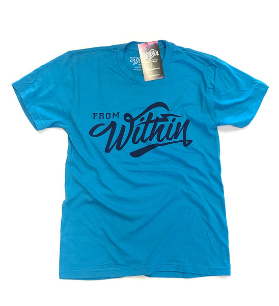 From Within Script Logo Shirt - Turquoise