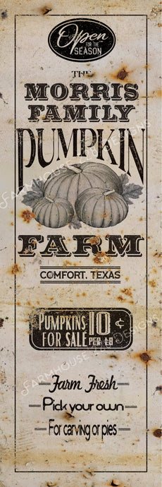 Custom Pumpkin Farm Sign
