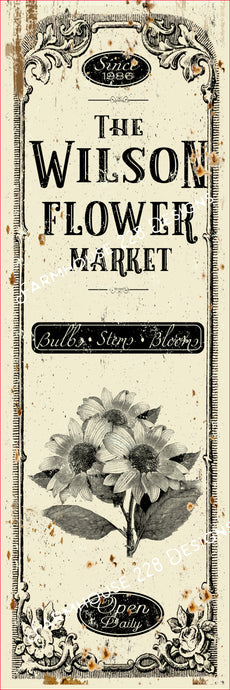 Custom Flower Market Sign
