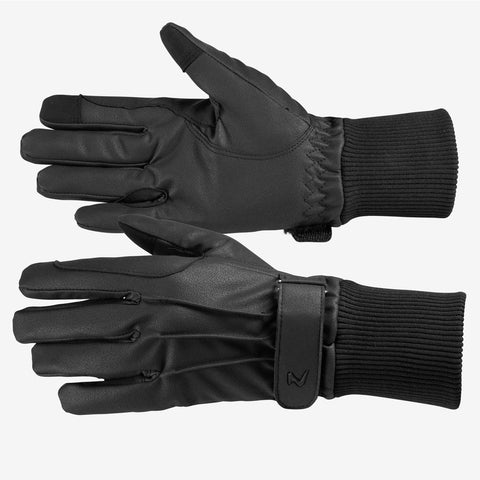 PU Leather Fleece-Lined Glove