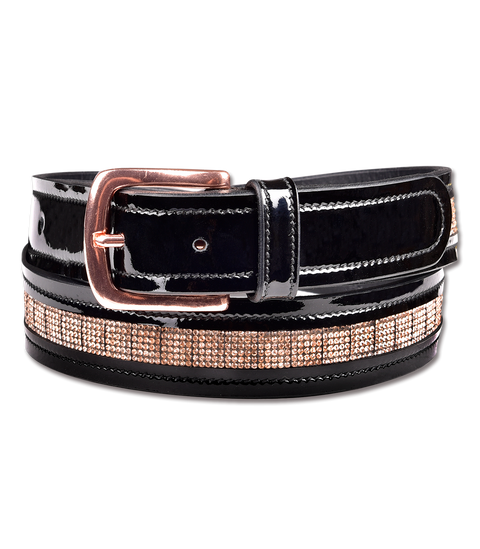 Rose Gold Leather Belt