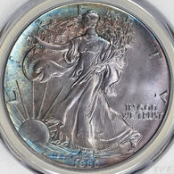 1986 $1 American Silver Eagle ASE PCGS MS-67 Toned