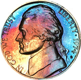 1974-S Jefferson Nickel BU Proof Rainbow Color Toned Gem