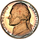1982-S Jefferson Nickel BU Proof Rainbow Color Toned Gem