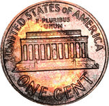 1962 Lincoln Memorial Penny BU Proof Rainbow Color Toned Gem