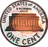 2003-S Lincoln Memorial Penny BU Proof Multi Color Toned Gem