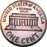 1963 Lincoln Memorial Penny BU Proof Light Multi Color Toned Gem