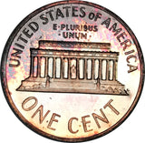 1963 Lincoln Memorial Penny BU Proof Rainbow Toned Gem