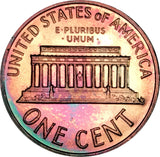 1964 Lincoln Memorial Penny BU Proof Rainbow Color Toned Gem