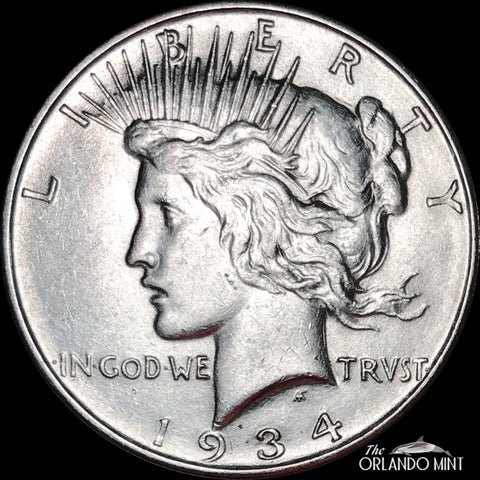 1934-D Peace Dollar MS BU Condition This Coin Is In Great Shape White Coin