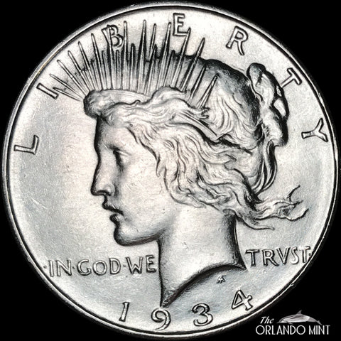 1934-D Peace Dollar MS BU Condition This Coin Is In Great Shape