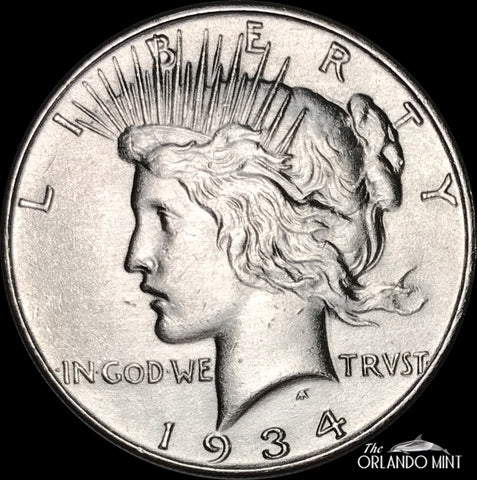 1934 Peace Dollar MS BU Condition This Coin Is In Great Shape