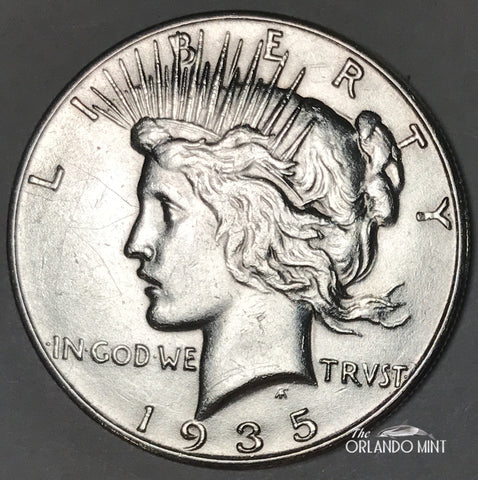 1935 Peace Dollar MS BU Condition This Coin Is In Great Shape