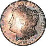 1889-P Morgan Silver Dollar MS BU Stunning Rainbow Color Toned Gem