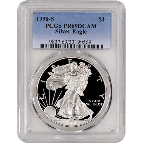 1990-S American Silver Eagle Proof - PCGS PR69 DCAM
