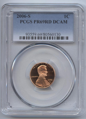 2006-S Lincoln Cent PR69RD DCAM PCGS Proof 69 RED DEEP CAMEO