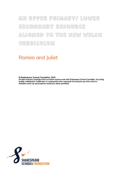 "Welsh ""Romeo and Juliet"" Curriculum Resource"