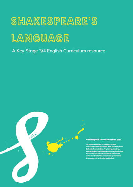 Shakespeare's Language - A Key Stage 3 and 4 Scheme of Work £40+VAT