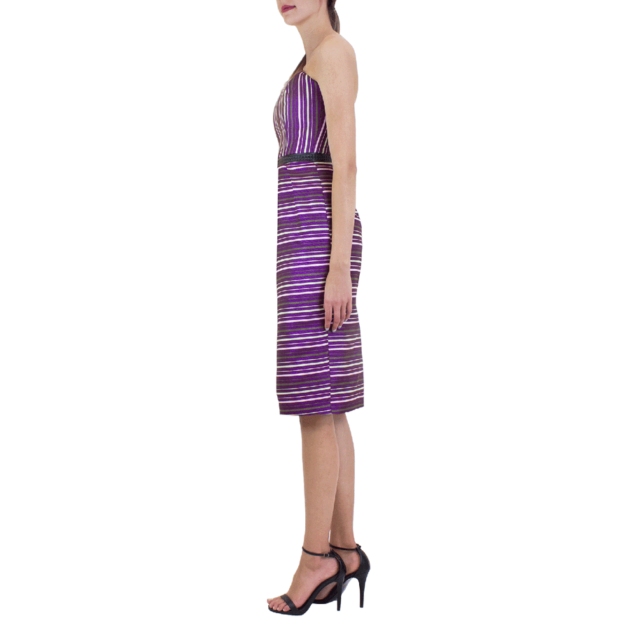 Violet Stripe Lyric Dress