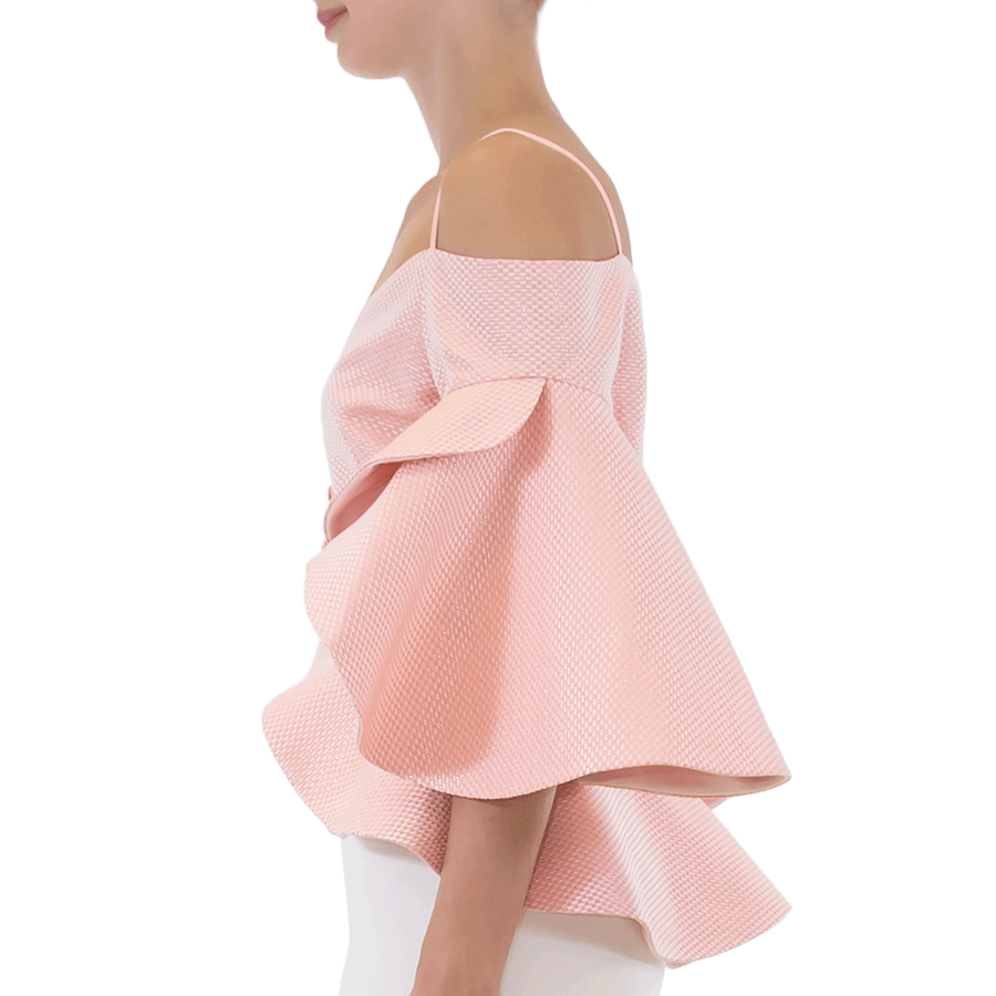 Peach Talise Top