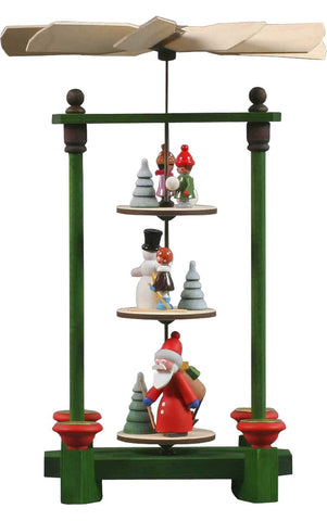 Pyramid - Santa with Winter scene - 3-tier