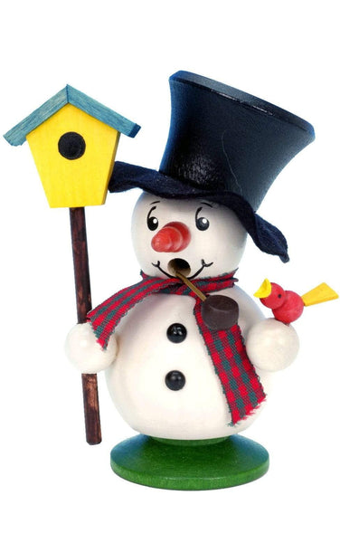 German Smoker-Mini Snowman & Birdhouse