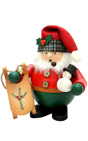 German Smoker-Santa With Sled