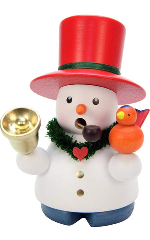 German Smoker-Snowman With Bell