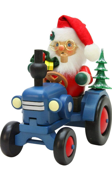 German Smoker-Santa On Tractor| MyDirndl.Com™