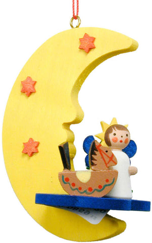 Hanging Ornament - Angel in Moon with Toys