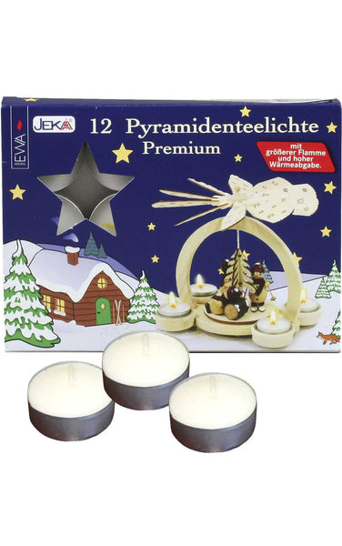 German Tea Lights (Pack of 12) FOIL HOLDER #12-3815-P