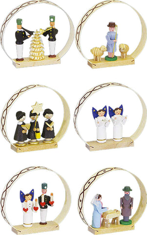 Ornament - Assorted Figures (Box of 6)
