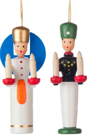 Hanging Ornament - Angel and Miner (Set of 2)