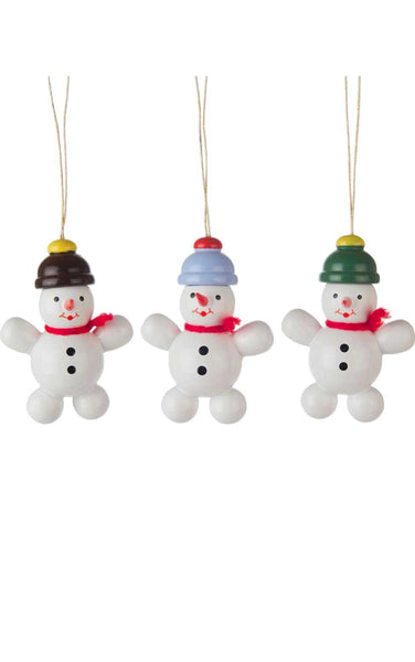 Hanging Ornament - Assorted Snowmen (Set of 3)