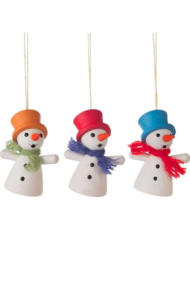 Mini Ornament - Assorted Snowmen (Set of 3)