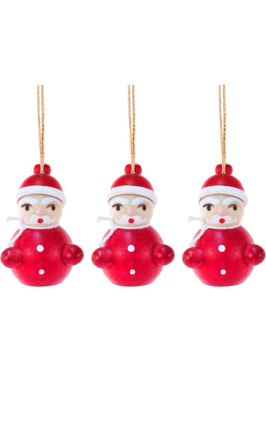 Mini Ornament - Santa Claus (Set of 3)