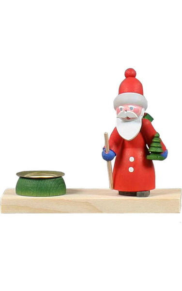 Candle Holder - Santa Hiking