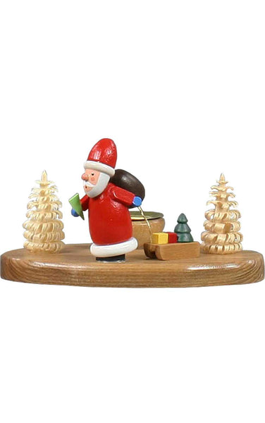 Candle Holder - Santa with Sled
