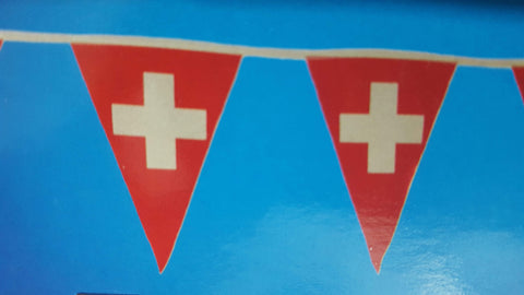 4 Meter Swiss Pennant Chain of Flags