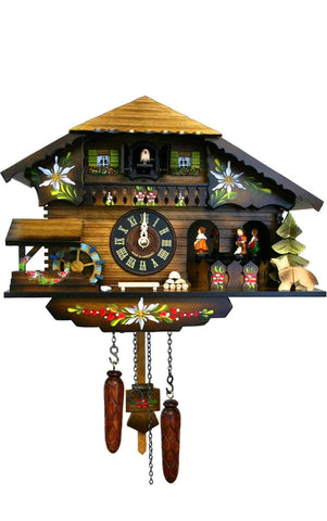 Chalet with Dancers and Waterwheel| MyDirndl.Com™