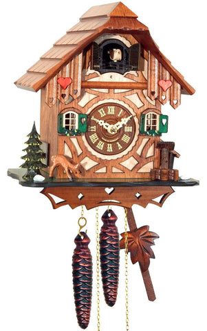 Black Forest Cuckoo Clock  with Hearts