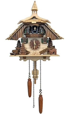 Black Forest clock in light finish with Bell Tower| MyDirndl.Com™