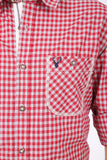 Niklas Red Checked Men's Shirt