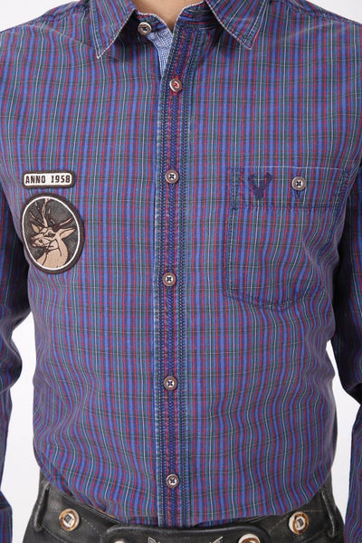 Freddy Blue Plaid Men's Shirt