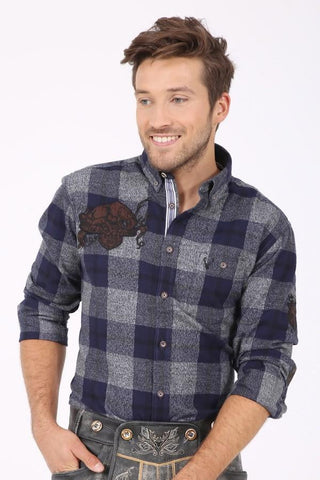 Rolf Blue Plaid Men's Shirt