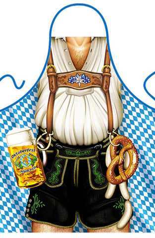 German Oktoberfest Apron - Bier and Pretzel Man