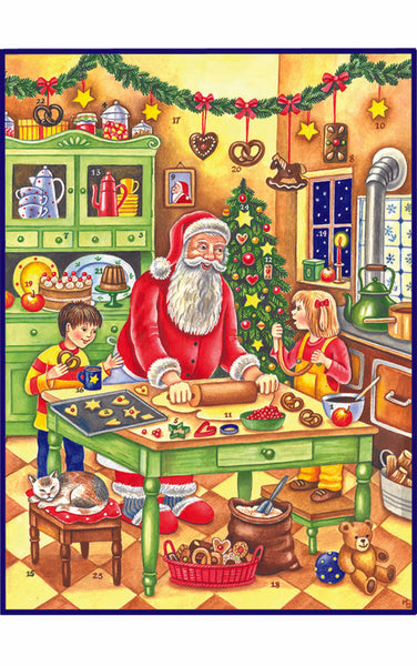 Advent Calendar Baking Santa