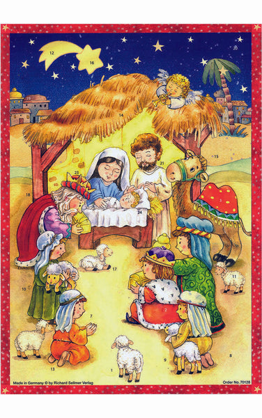 Advent Calendar Manger Scene Advent Calendar