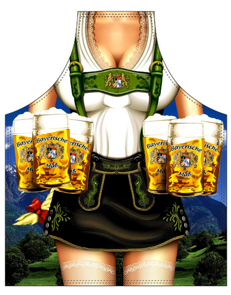 German Oktoberfest Apron - Bier Woman