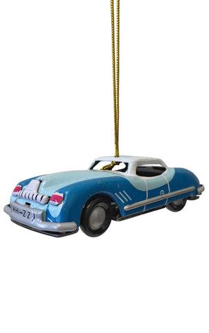 Collectible Tin Ornament - Blue Car